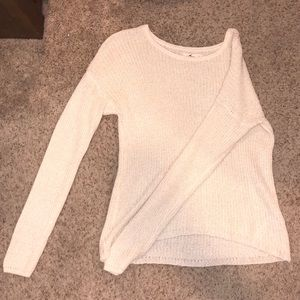 Hollister white sparkly knit sweater
